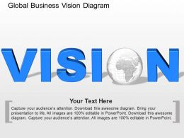el Global Business Vision Diagram Powerpoint Template