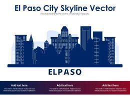 El Paso City Skyline Vector Powerpoint Presentation PPT Template