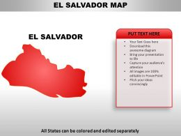 El Salvador Country Powerpoint Maps