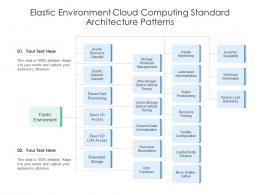 Elastic Environment Cloud Computing Standard Architecture Patterns Ppt Diagram