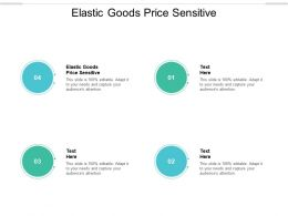Elastic Goods Price Sensitive Ppt Powerpoint Presentation File Inspiration Cpb