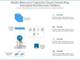 Elastic Resource Capacity Cloud Computing Standard Architecture Patterns Ppt Presentation Diagram
