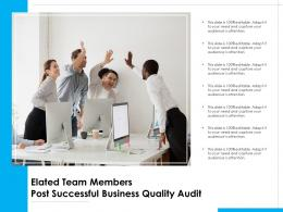 Elated Team Members Post Successful Business Quality Audit
