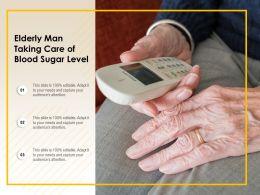 Elderly Man Taking Care Of Blood Sugar Level