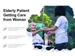 Elderly Patient Getting Care From Woman