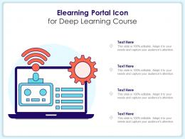 Elearning Portal Icon For Deep Learning Course