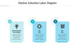 Elective Induction Labor Diagram Ppt Powerpoint Presentation Visual Aids Cpb