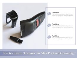 Electric Beard Trimmer For Men Personal Grooming
