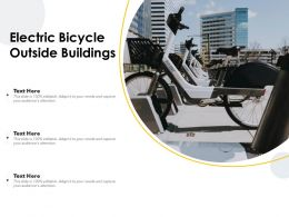Electric Bicycle Outside Buildings