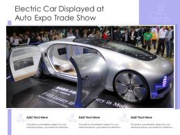 Electric Car Displayed At Auto Expo Trade Show