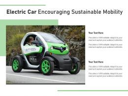 Electric Car Encouraging Sustainable Mobility
