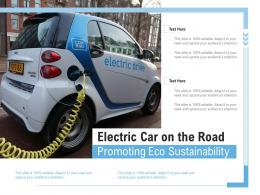 Electric Car On The Road Promoting Eco Sustainability