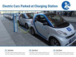 Electric Cars Parked At Charging Station