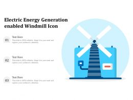 Electric Energy Generation Enabled Windmill Icon