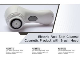 Electric Face Skin Cleanse Cosmetic Product With Brush Head