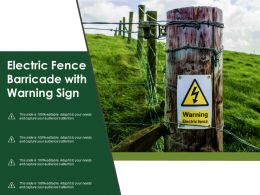 Electric Fence Barricade With Warning Sign