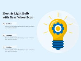 Electric Light Bulb With Gear Wheel Icon