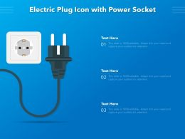 Electric Plug Icon With Power Socket