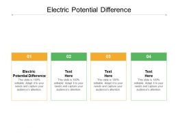 Electric Potential Difference Ppt Powerpoint Presentation Inspiration Graphics Cpb