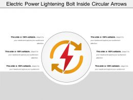 Electric Power Lightening Bolt Inside Circular Arrows