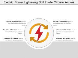 Electric Power Lightening Bolt Inside Circular Arrows