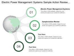 Electric Power Management Systems Sample Action Review Quality Control