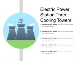 Electric Power Station Three Cooling Towers