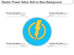 Electric Power Yellow Bolt On Blue Background