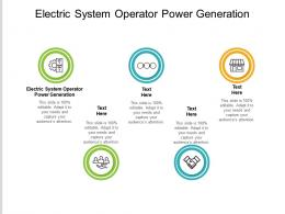 Electric System Operator Power Generation Ppt Powerpoint Presentation Slides Files Cpb