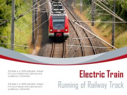 Electric Train Running Of Railway Track