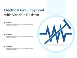 Electrical Circuit Symbol With Variable Resistor