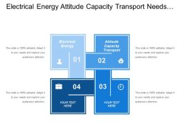 Electrical Energy Attitude Capacity Transport Needs Social Equipment