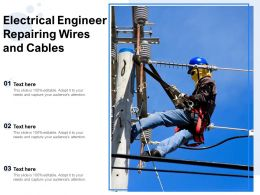 Electrical Engineer Repairing Wires And Cables