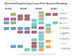 Electrical Engineering Course Four Quarter Roadmap