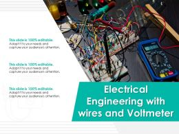 Electrical Engineering With Wires And Volt Meter