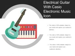 Electrical Guitar With Casio Electronic Music Icon