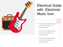 Electrical Guitar With Electronic Music Icon