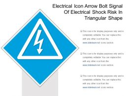 Electrical Icon Arrow Bolt Signal Of Electrical Shock Risk In Triangular Shape