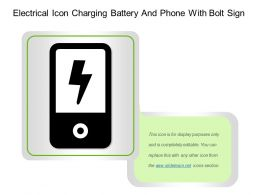 Electrical Icon Charging Battery And Phone With Bolt Sign
