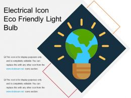 Electrical Icon Eco Friendly Light Bulb