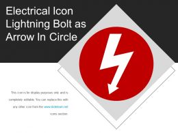 Electrical Icon Lightning Bolt As Arrow In Circle