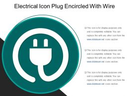Electrical Icon Plug Encircled With Wire