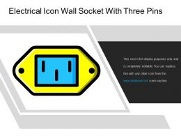 Electrical Icon Wall Socket With Three Pins