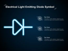 Electrical Light Emitting Diode Symbol