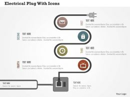 electrical_plug_with_icons_flat_powerpoint_design_Slide01
