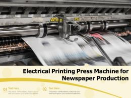 Electrical Printing Press Machine For Newspaper Production