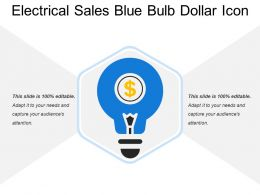 Electrical Sales Blue Bulb Dollar Icon