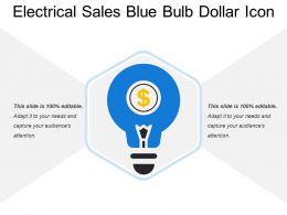 Electrical Sales Blue Bulb Dollar Icon
