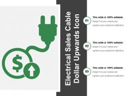 Electrical Sales Cable Dollar Upwards Icon