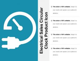 Electrical Sales Circular Clock Product Icon